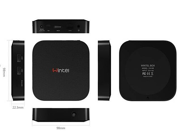 Intel CPU smart tv box window10 android Двойная система mini pc IPTV Интернет-телевидение 32G 2G