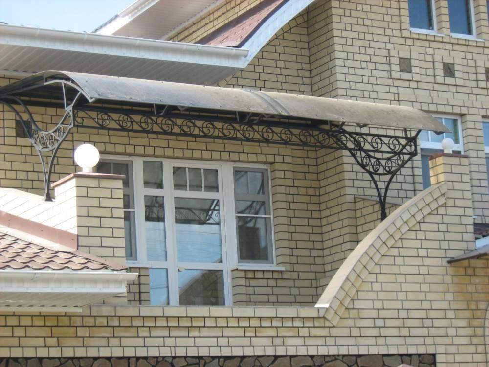 """Навес над балконом от компании сталекс. """"г. балашов,ул. приг."""