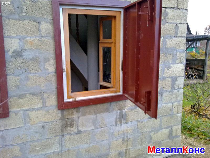 Ставни из металла на окна в дачном доме своими руками 68