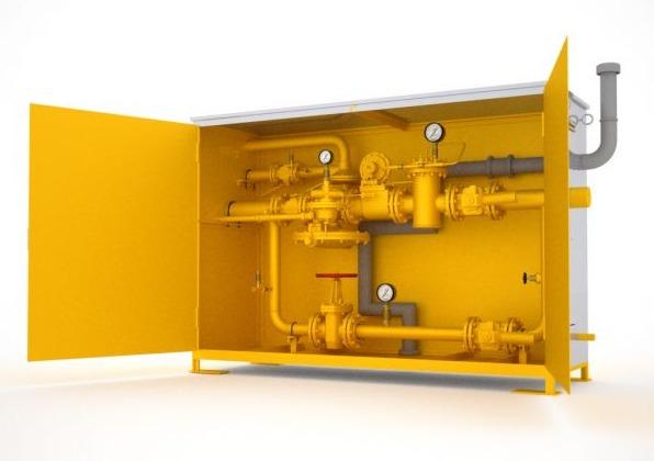 Газорегуляторный пункт шкафной с газовым обогревом ГСГО М