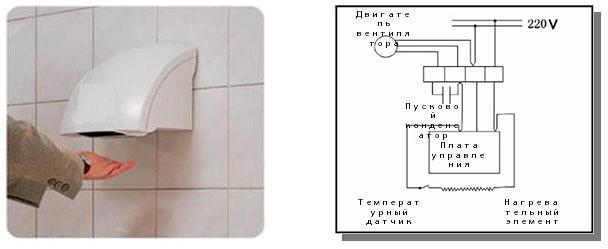 схема сушилка для рук ergo