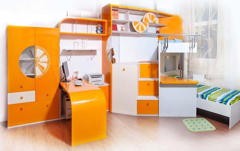 Комплект мебели для двух детей апельсин moretti design (море.