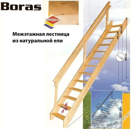 Межэтажная деревянная лестница своими руками