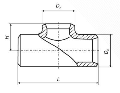 Тройник равнопроходной ТУ 3647-095-00148139-2000