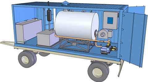 транспортабельные паровые котельные установки
