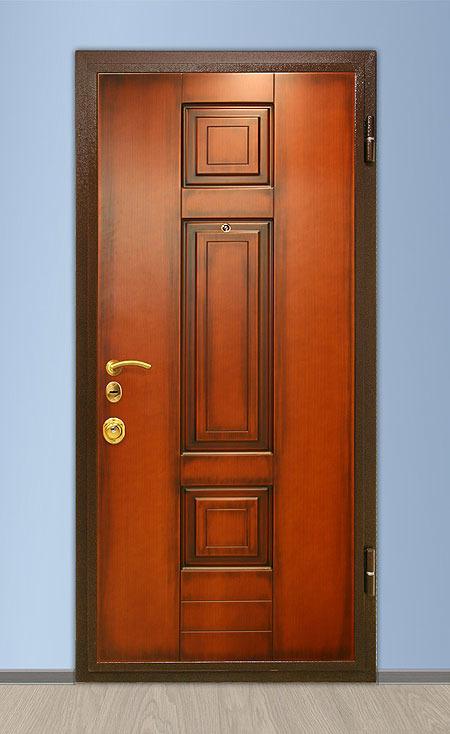 стальные двери фрезерованные шпонированные