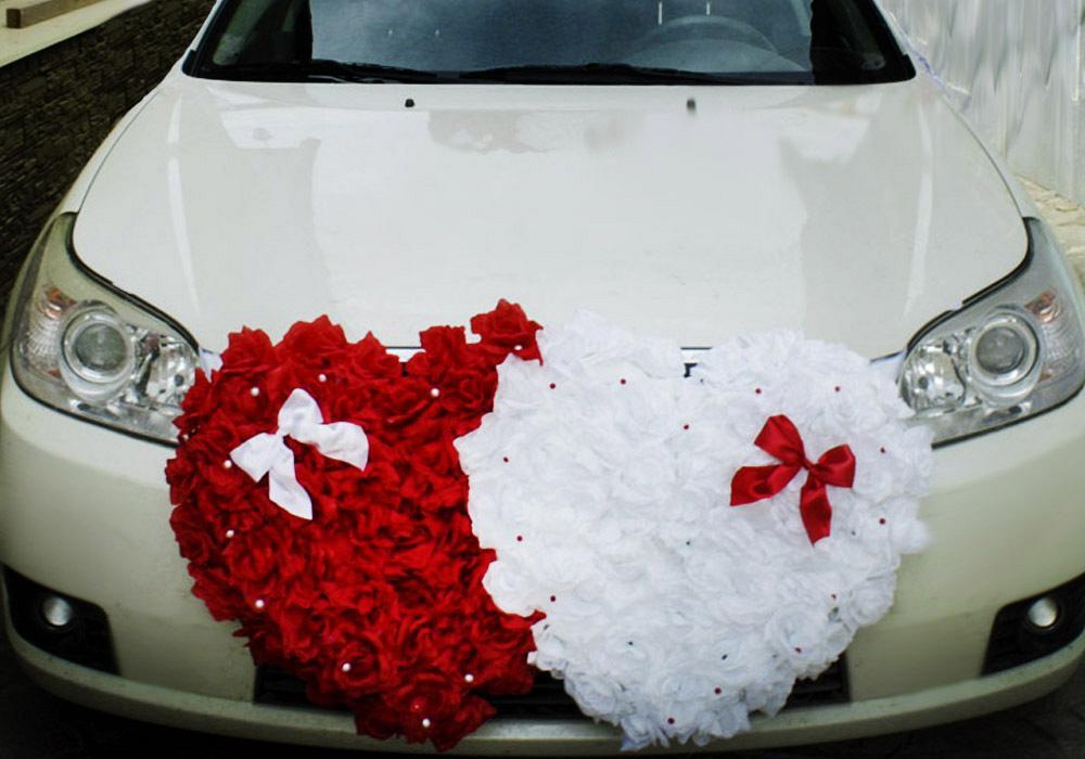 Как сделать сердца на машину на свадьбу