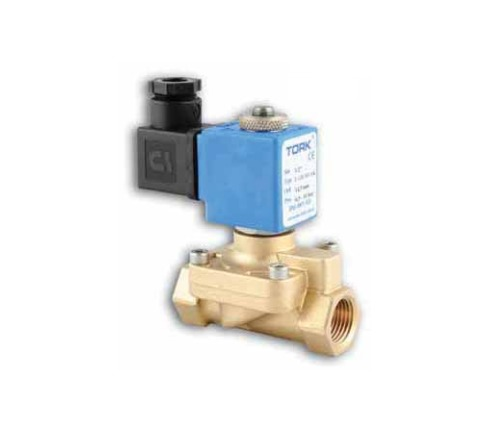 Клапан латунный соленоидный VT DENDOR (непрямого действия)