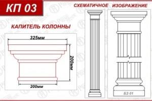 Как сделать капитель колонны
