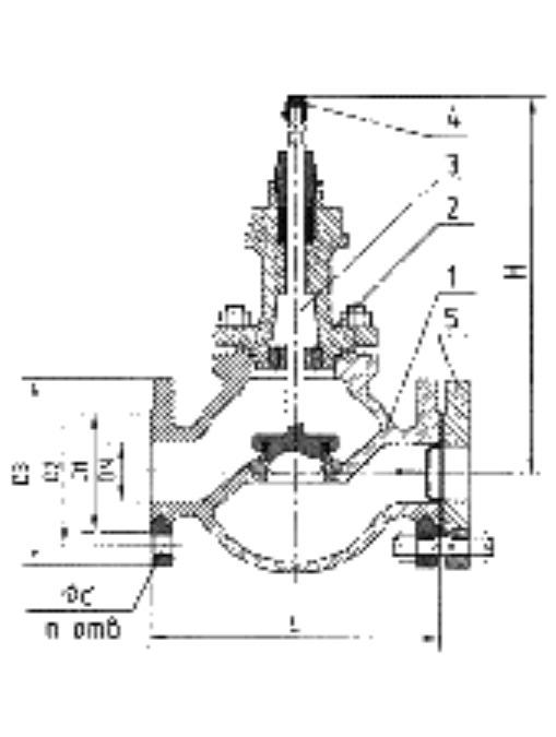 Клапан запорно-регулирующий односедельный, под ЭИМ HONEYWELL